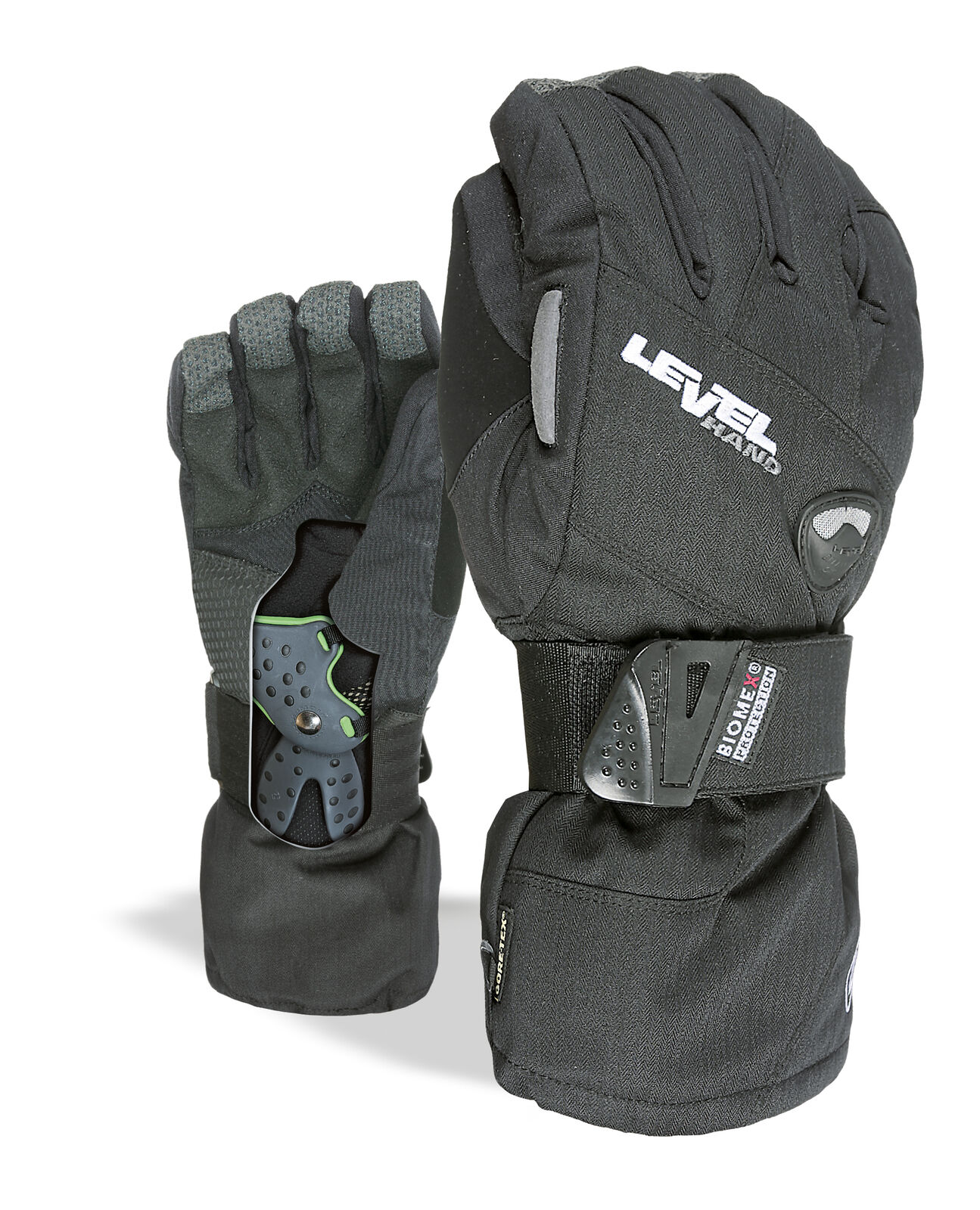 Level Handschuh  Half Pipe Gore-Tex schwarz winddicht wasserdicht atmungsaktiv