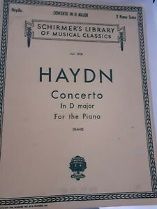 Partituras-SCHIRMER-039-S-Library-Of-Musical-1945-VOL-1700-Haydn-Concerto-Piano