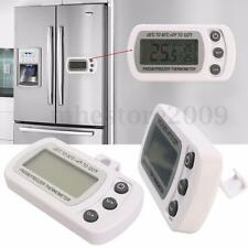 Waterproof LCD Fridge Freezer Refrigerator Thermometer Tool Hanging Hook Stand
