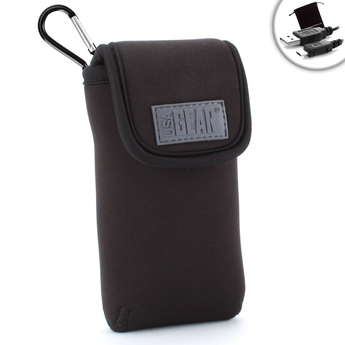 USA Gear Portable Pocket Wi-Fi Hotspot Carrying Case with Ca