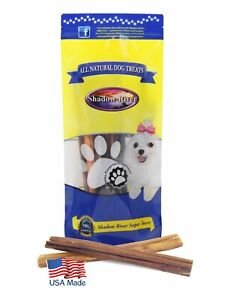 10 Pack 12 Inch Thick Bully Sticks For Dogs by Shadow River - Product of the USA