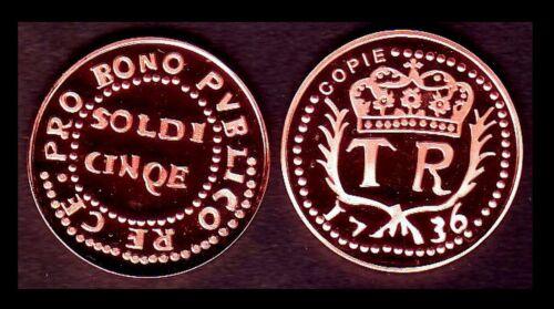 DE NEUHOF ★★ LEG:PVBLICO RE ★ CORSE RARE COPIE DE LA 5 SOLDI 1736 TH