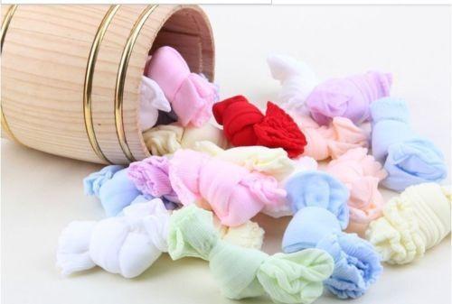 5 paires nouveau né bébé Garçons//Filles Chaussettes Coloré 0 /> 5 mois