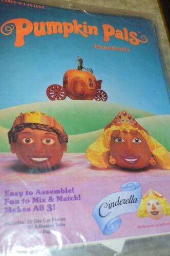 Pumpkin Pals Punchouts Carve O-Lantern Cinderella Sealed Vintage 1992