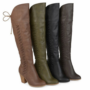 Brinley-Co-Womens-Standard-and-Wide-Calf-Faux-Leather-Over-the-knee-Boots-New