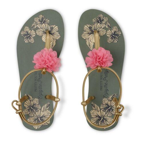 Pretty You London E1 Women Summer T-Bar Sandals Tara Khaki Choose Size