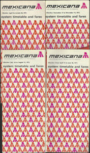 Mexicana-timetable-lot-4-1975-1976