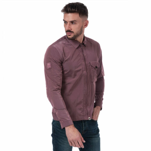 Mens Pretty Green Omskirk Overshirt in Pink.