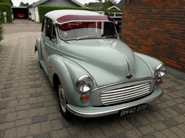 Morris Minor, 1000 Super, Benzin, 1970, km 77000, lysblå,…