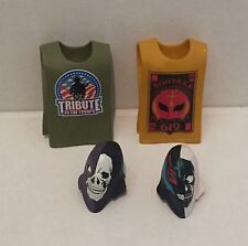 MATTEL ELITE FIGURE wwe ACCESSORIES LOT Rey Mysterio Masks Shirts Rubber