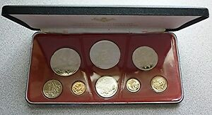 1973 Trinidad and Tobago 7-Coin Proof Set with 2 .925 Sterling Silver coins!