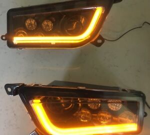 16 18 Polaris General 1000 Orange Led Angel Eye Headlights