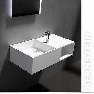 Wandwaschbecken Design Wand Waschtisch Mineralguss Stein Pb2037 Weiss