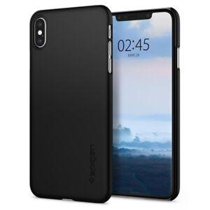 Spigen-Thin-Fit-Schutzhuelle-Case-Cover-Handyhuelle-fuer-iPhone-XS-schwarz