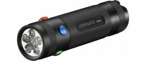 Blue Green Coast TX10 LED Pocket Nautical Torch Four Colour Lights- White Red