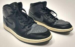 Men-s-Nike-Air-Jordan-1-Mid-Black-Dark-Grey-White-Raiders-Shadow-10-5-554724-041