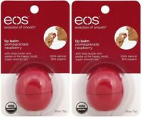 2 Pack Eos Evolution Smooth Pomegranate Raspberry Lip Balm Original Usa 0.25 Oz on sale