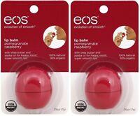 2 Pack Eos Evolution Smooth Pomegranate Raspberry Lip Balm Original Usa 0.25 Oz on sale