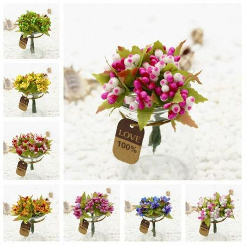 Artificial Flower Bouquet Stamen Party Wedding Car Millinery Decor Supplies