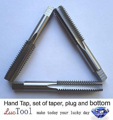 1//4-20 UNC HAND TAP SET 4 Flute Bottoming Plug /& Taper HSS Oxide//Gold Finish