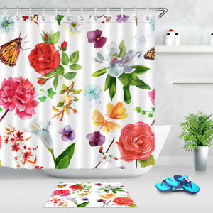 Image Is Loading Calla Lily Orchid Rose Shower Curtain Set Bathroom