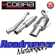 """VZ02g Cobra Astra Turbo Coupe MK4 Exhaust System 3"""" Stainless Cat Back Resonated"""