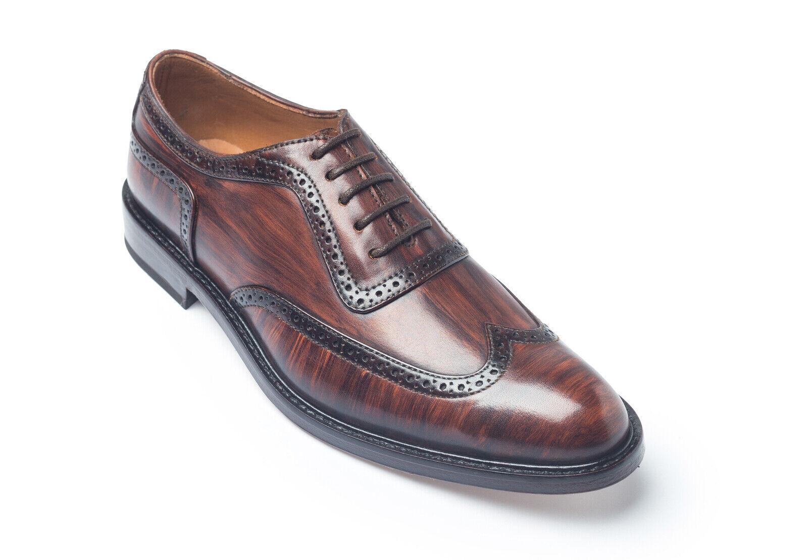 Mens Handmade  scarpe Wing Tip Oxford Derby Leather Two Tone Formal Casual stivali  senza esitazione! acquista ora!