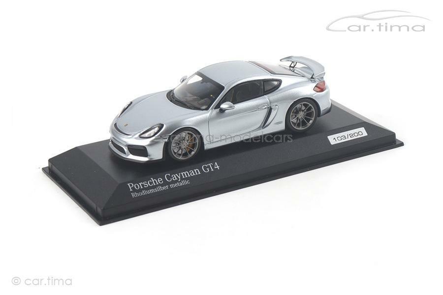 Porsche Cayman gt4-rhodiumplata - 1 of 200-Minichamps-Coche. tima Exclusive