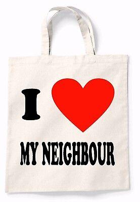 Amo Il Mio Vicino Canvas Tote Shopping Bag Cotone Babbo Natale Segreto Regalo Shopper-mostra Il Titolo Originale
