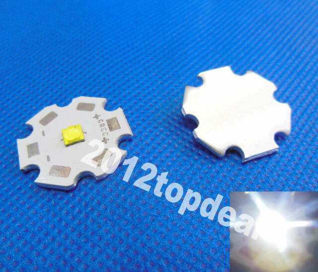 10pcs Cree XTE XT-E White LED + 20mm Star Base  1W 3W 5W led emitter 456lm@5W