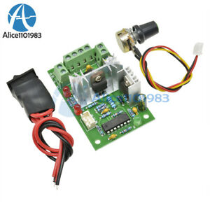 Details about 6-30V DC Motor Speed Controller Reversible PWM Control  Forward / Reverse switch