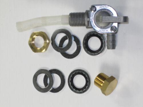 """gas PETCOCK 1//4/"""" BSP plug British fuel valve Triumph BSA tap Left or Right"""
