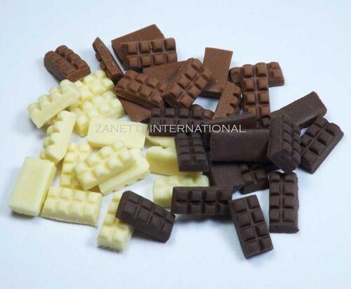 100 Mixed Dollhouse Miniature Chocolate Bars Doll Mini Tiny Food Sweet Candy