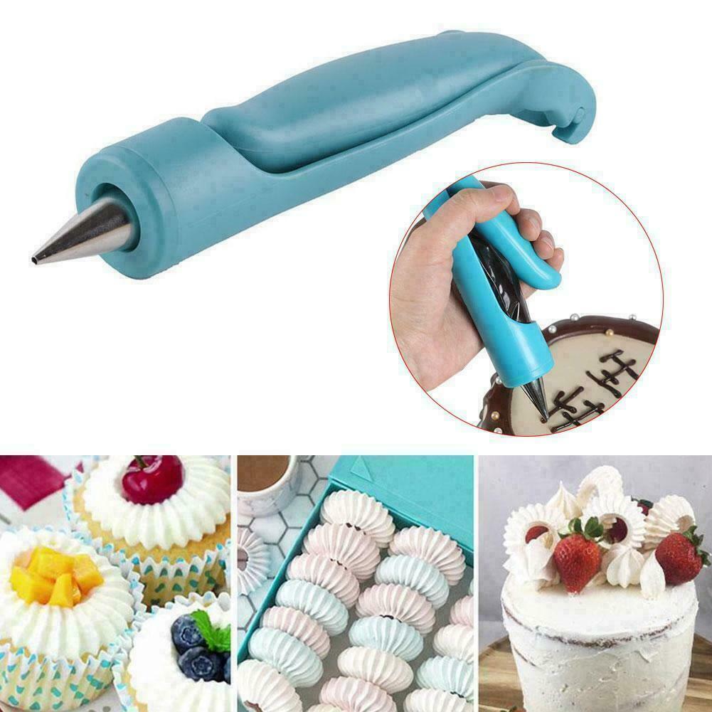 Pastry Icing Piping Bag Nozzle Tips Fondant Cupcake Cake Decorating Pen Tool FDI