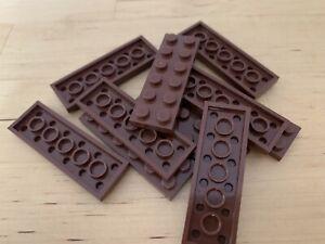 7 Brown 2x6 Standard Plate Bricks ~ Lego ~ NEW ~ Star Wars