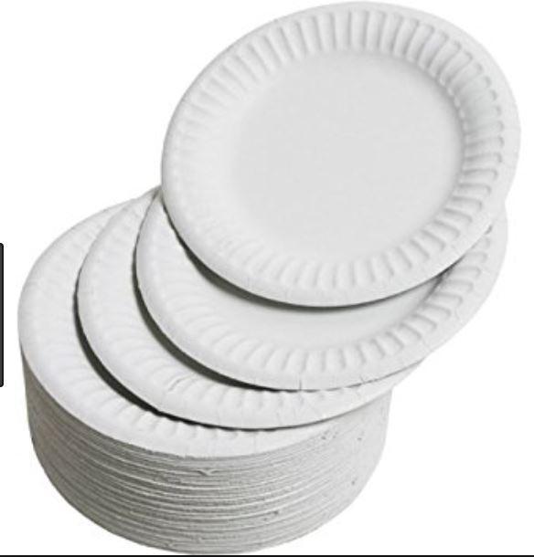 Qualité Blanc Mariage Fête Restaurant Barbecue Buffet Assiettes en Papier 15 cm (6 ) X 2000