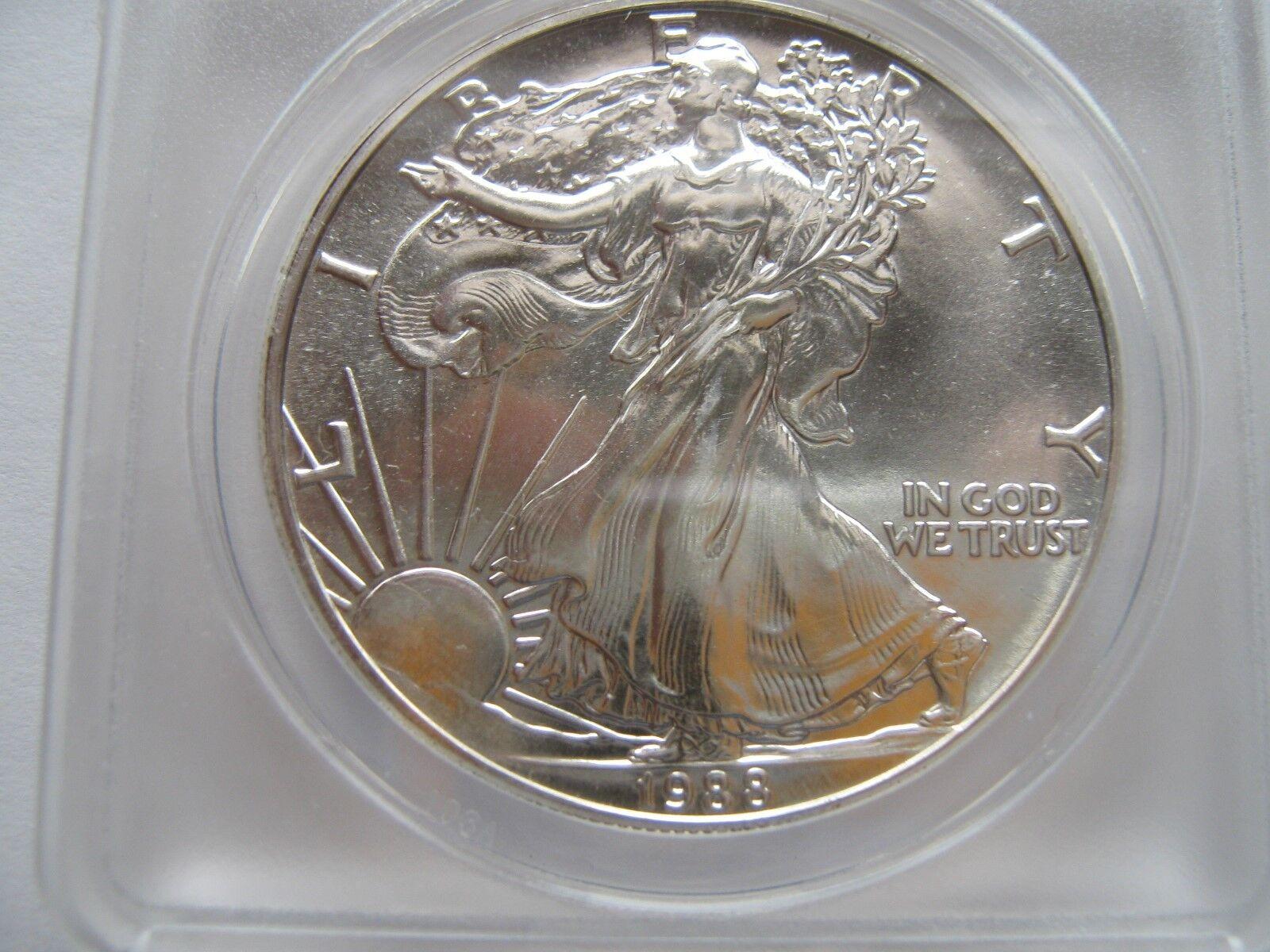 1988 silver eagle , ANACS , MS 67