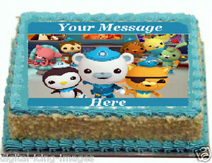 Image Is Loading Octonauts Cake Topper Edible Icing REAL FONDANT