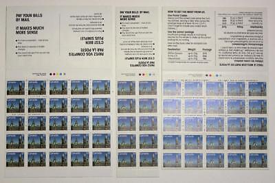 Canada 3 x 1988 37c Booklets. Unitrade BK97 BK98. Panes of ...