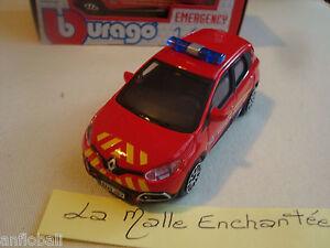 Miniature renault captured municipal police 1//43 ° b burago en boite