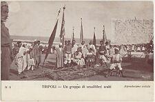 TRIPOLI - UN GRUPPO DI VESSILLIFERI ARABI (LIBIA) 1911