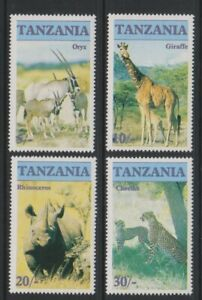 Tanzania - 1986, Endangered Animals set - MNH - SG 479/82