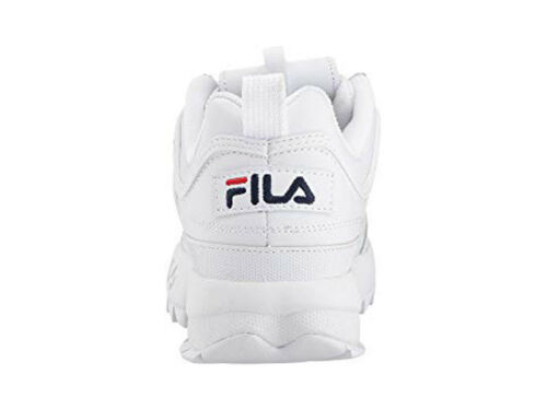 FILA DISRUPTOR II PREMIUM WHITE NAVY RED 5FM00002 125 WOMENS US SIZES