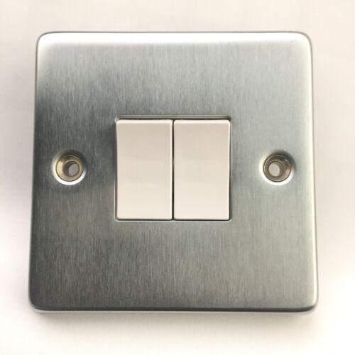 Crabtree 6172//SC 2 gang 2 way interrupteur de lumière chrome satiné