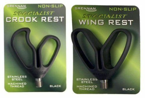 Wing Rest /& Crook Rest Brand New Drennan Non Slip Rod Rest Heads All Types