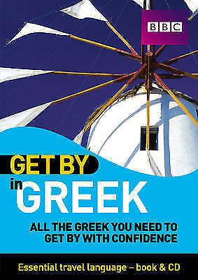 1 of 1 - Get By In Greek Pack (Mixed media product) (CD & Book  2007)   EXCELLENT