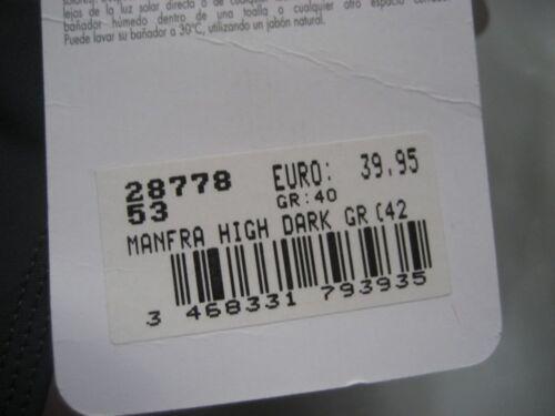 arena Damen Badeanzug Manfra Gr 40 Dunkelgrau Rot chlorbeständig 28778