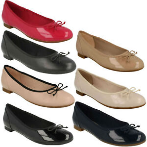 014cee7ae624 COUTURE BLOOM LADIES CLARKS SLIP ON FLAT BALLERINA BOW SHOES PUMPS ...
