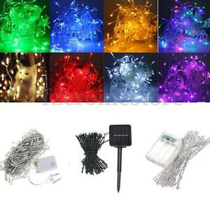 1 50m 10 500 Led Electric Solar Battery String Fairy