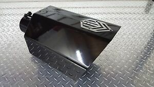 Diesel exhaust tip 5 inch inlet 8 inch outlet OCTAGON tip GLOSS BLACK FINISH
